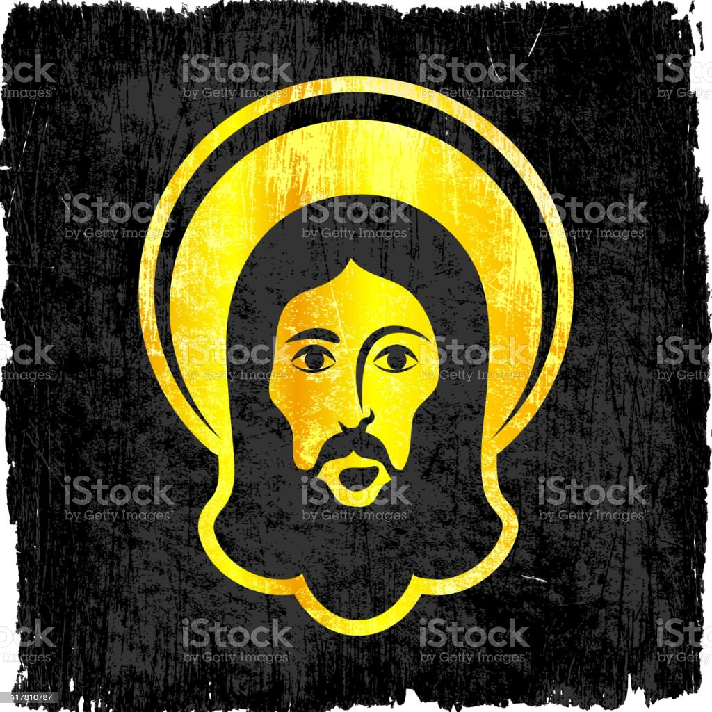 Jesus Christ on royalty free vector Background royalty-free stock vector art