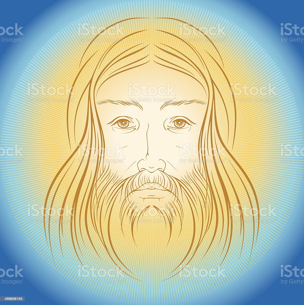 Jesus Christ shine light gloride rays vector illustration royalty-free stock vector art