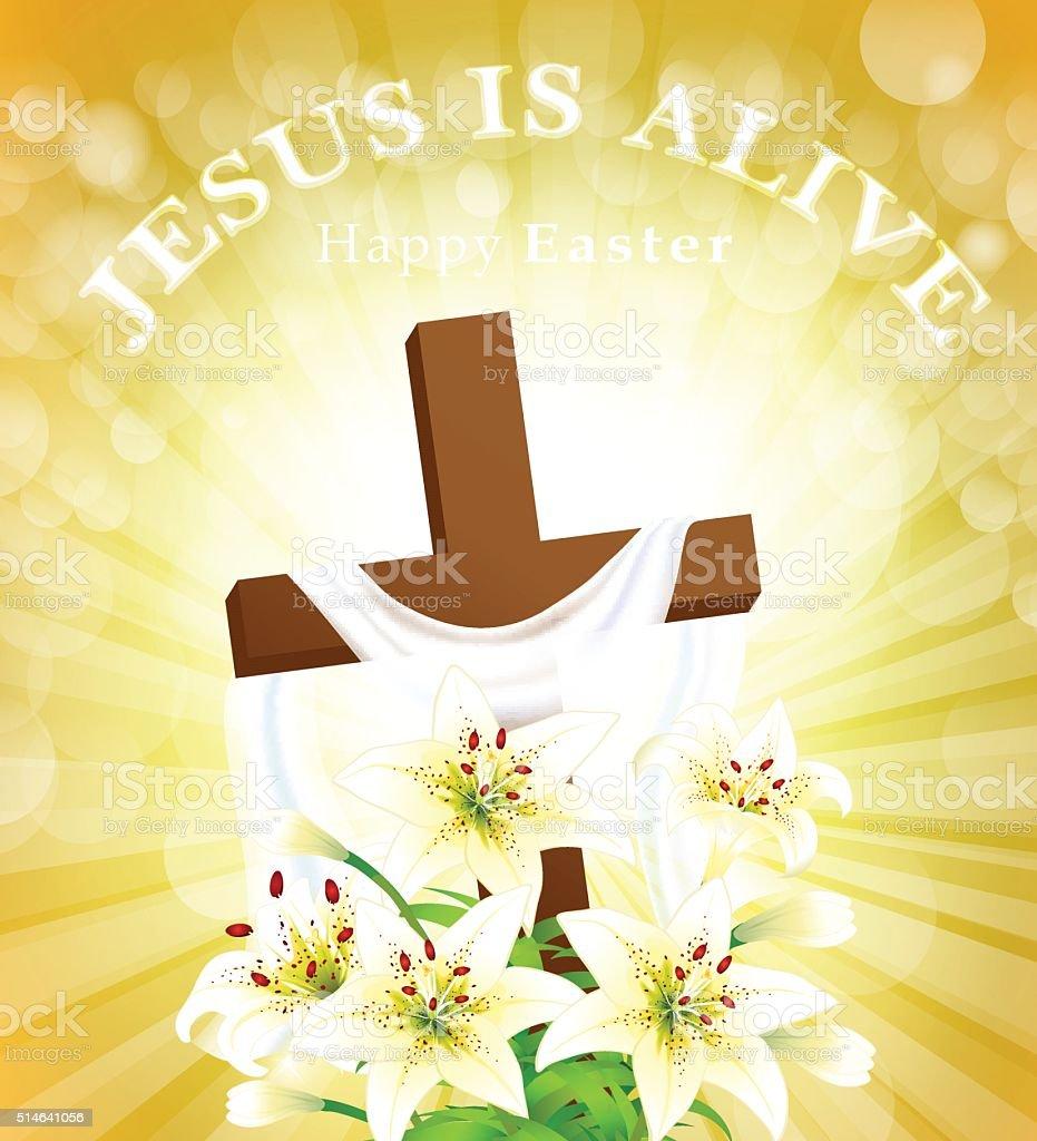 Jesus is Alive vector art illustration