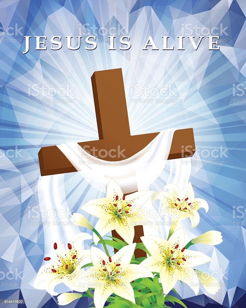 Jesus Love You vector art illustration