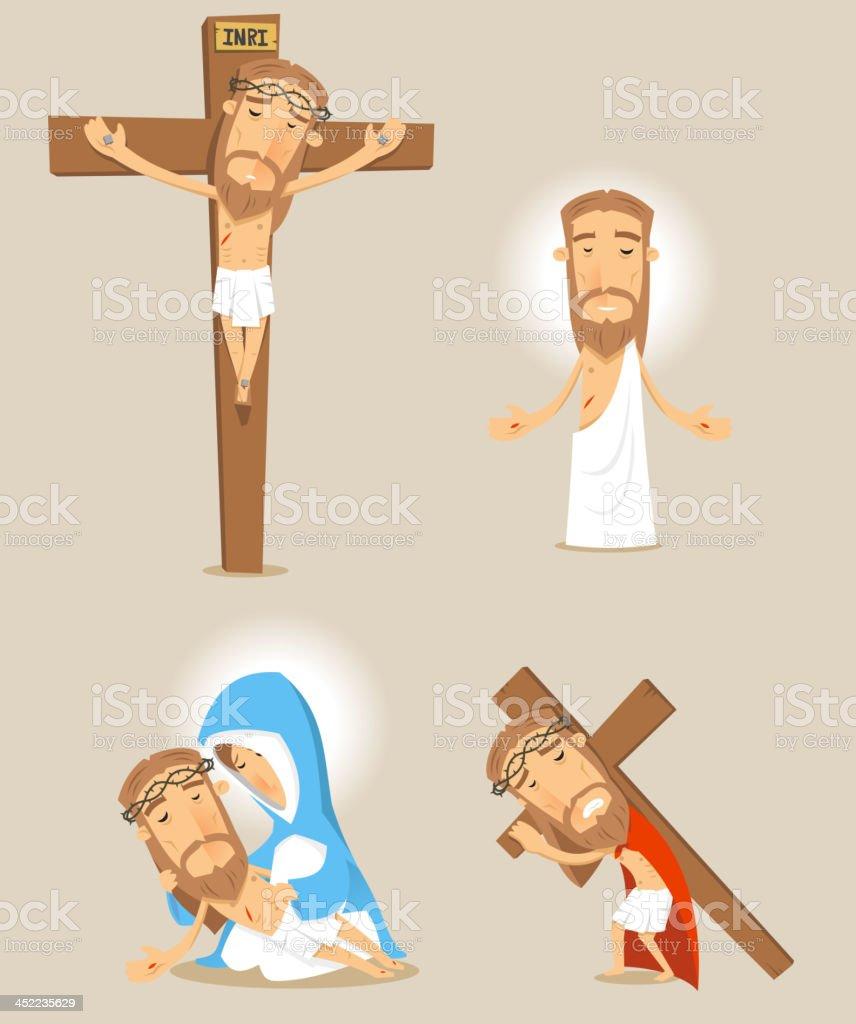 Jesus Passion Set royalty-free stock vector art