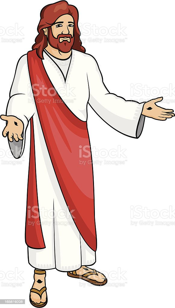 Jesus Resurrected royalty-free stock vector art