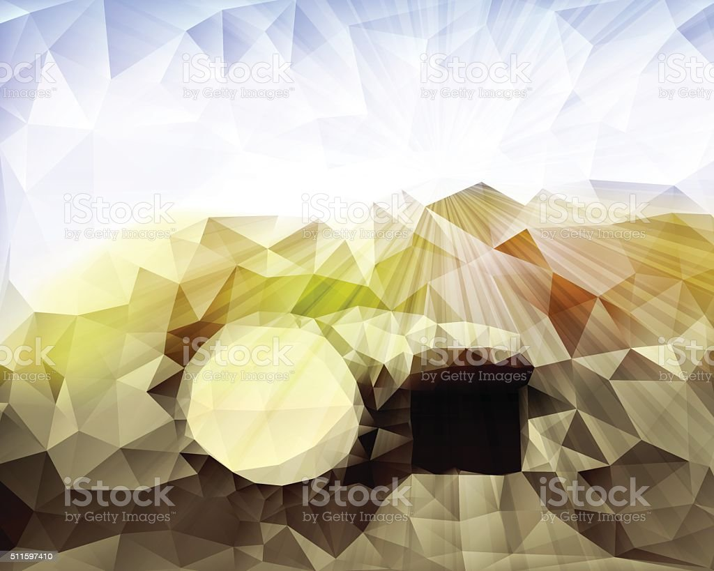 Jesus Tomb in Holy Land vector art illustration
