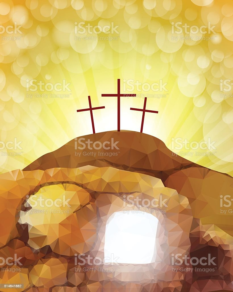 Jesus Tomb vector art illustration
