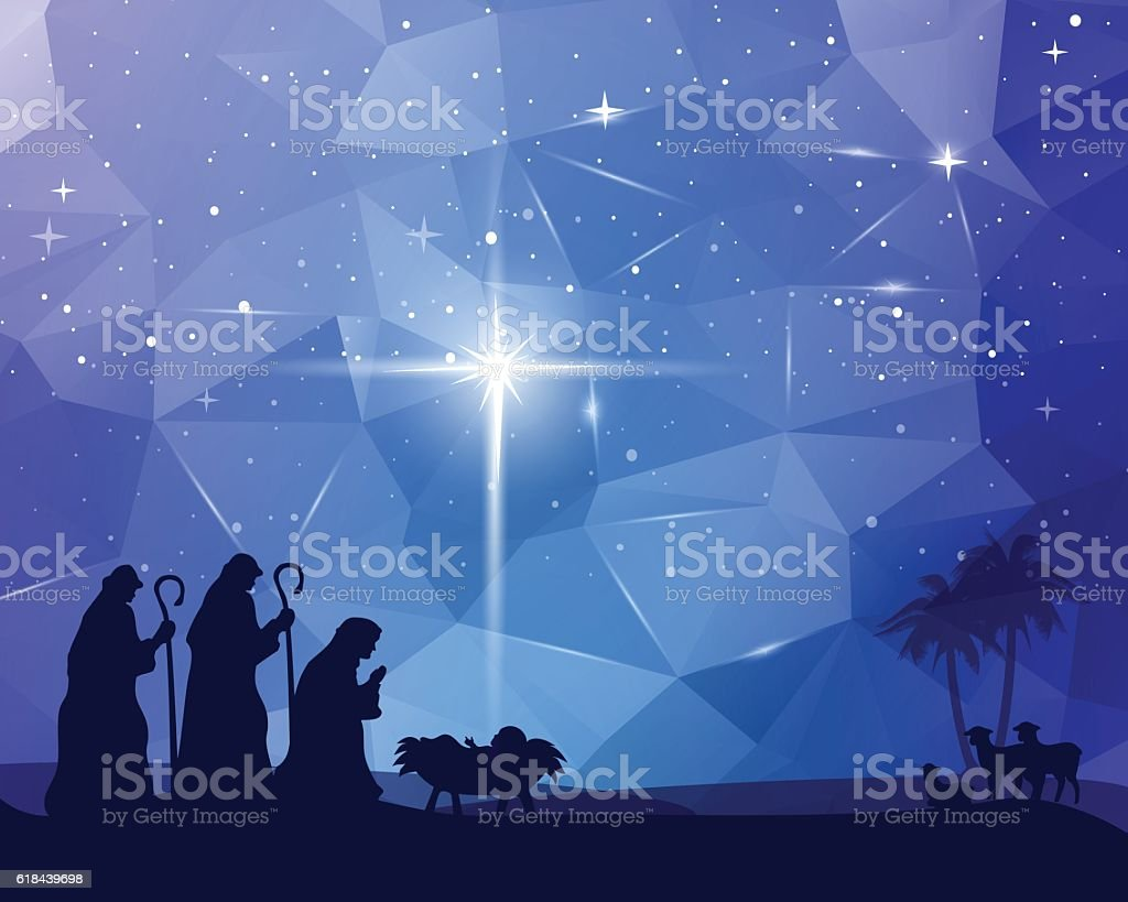 Jesus was Born vector art illustration