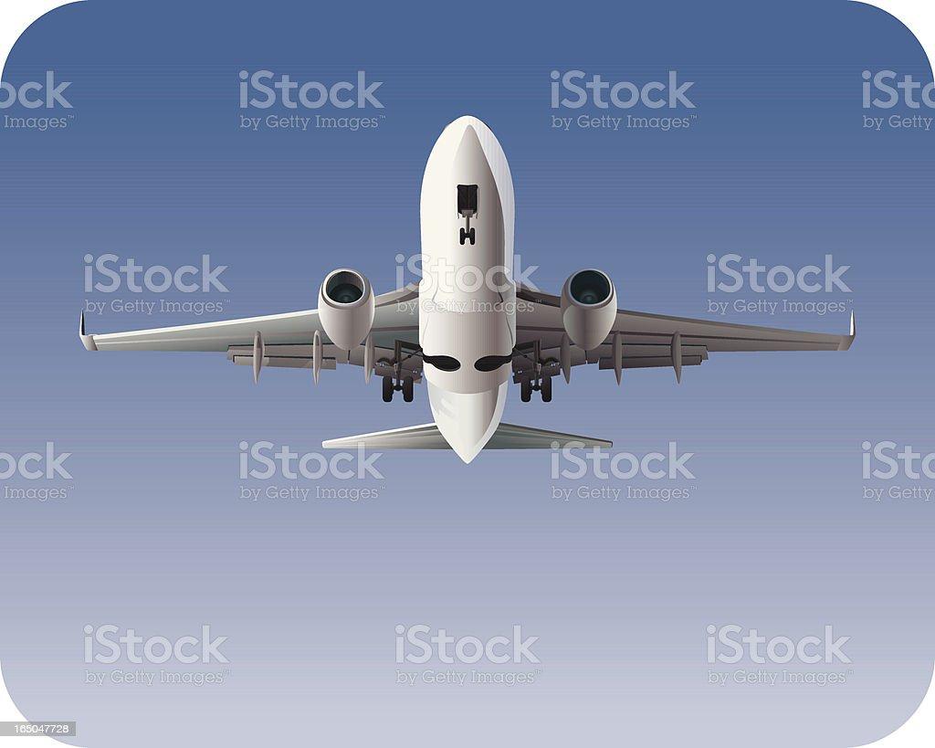 Jet Airplane Landing or Taking-Off royalty-free stock vector art