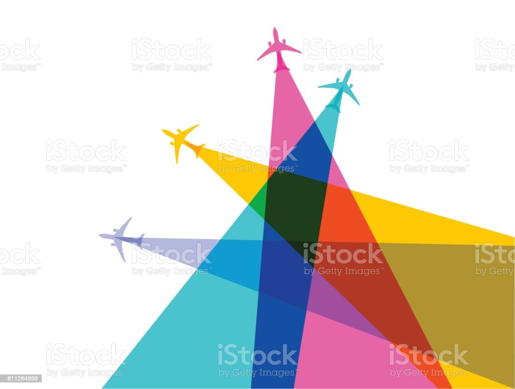 Jet Airplanes vector art illustration
