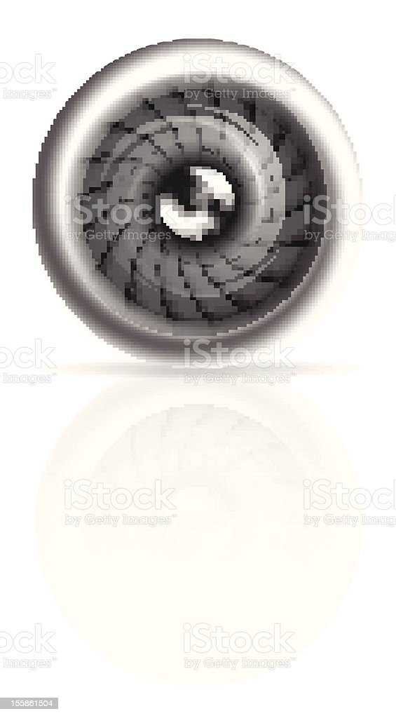 Jet engine front view isolated on white royalty-free stock vector art