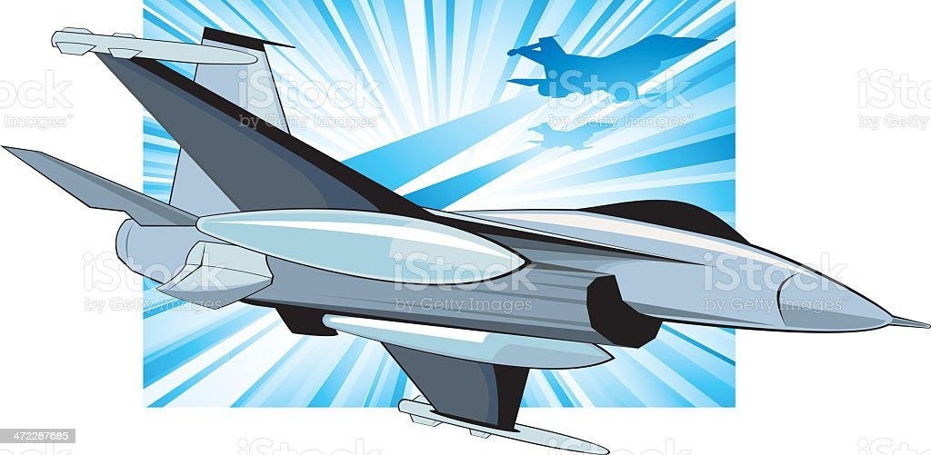 Jet Fighters vector art illustration