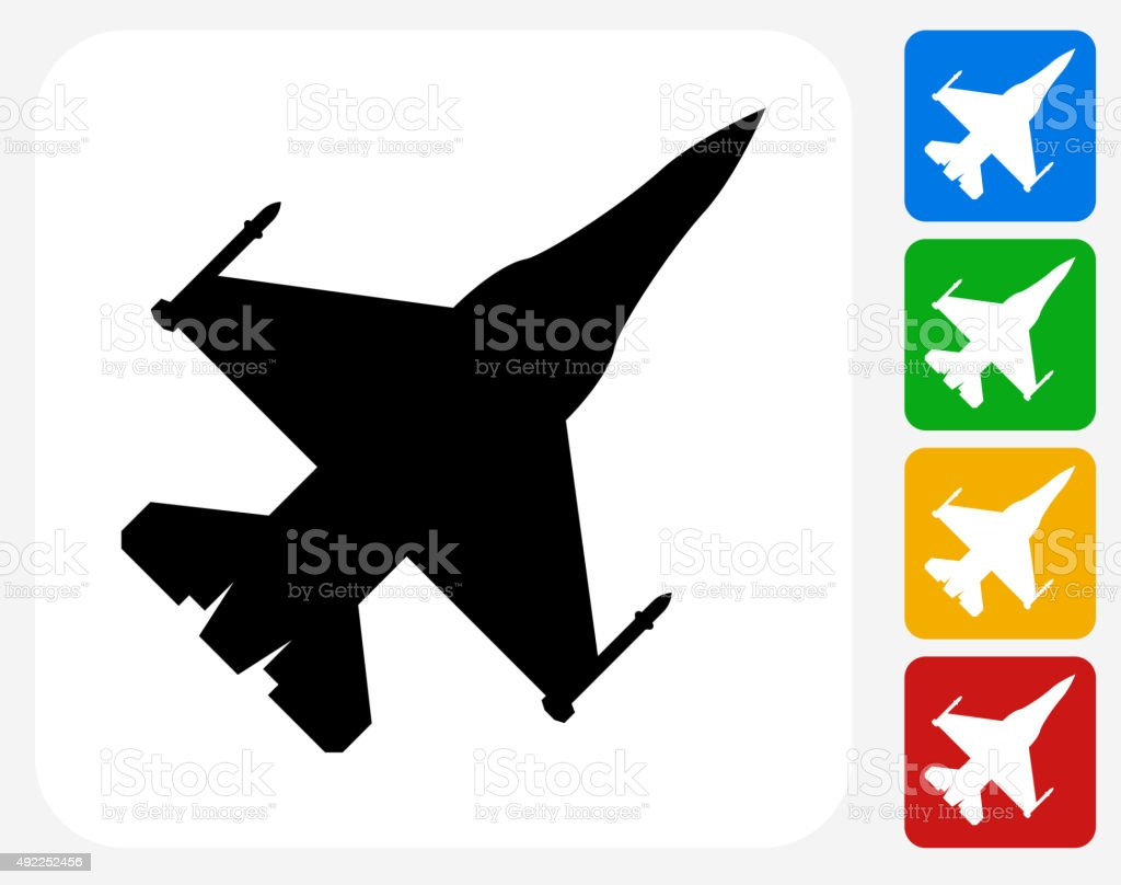 Jet Icon Flat Graphic Design vector art illustration