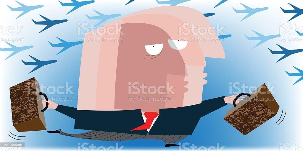 Jet lag vector art illustration
