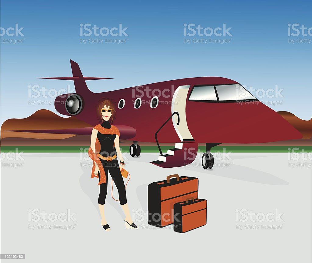 Jet Setter vector art illustration