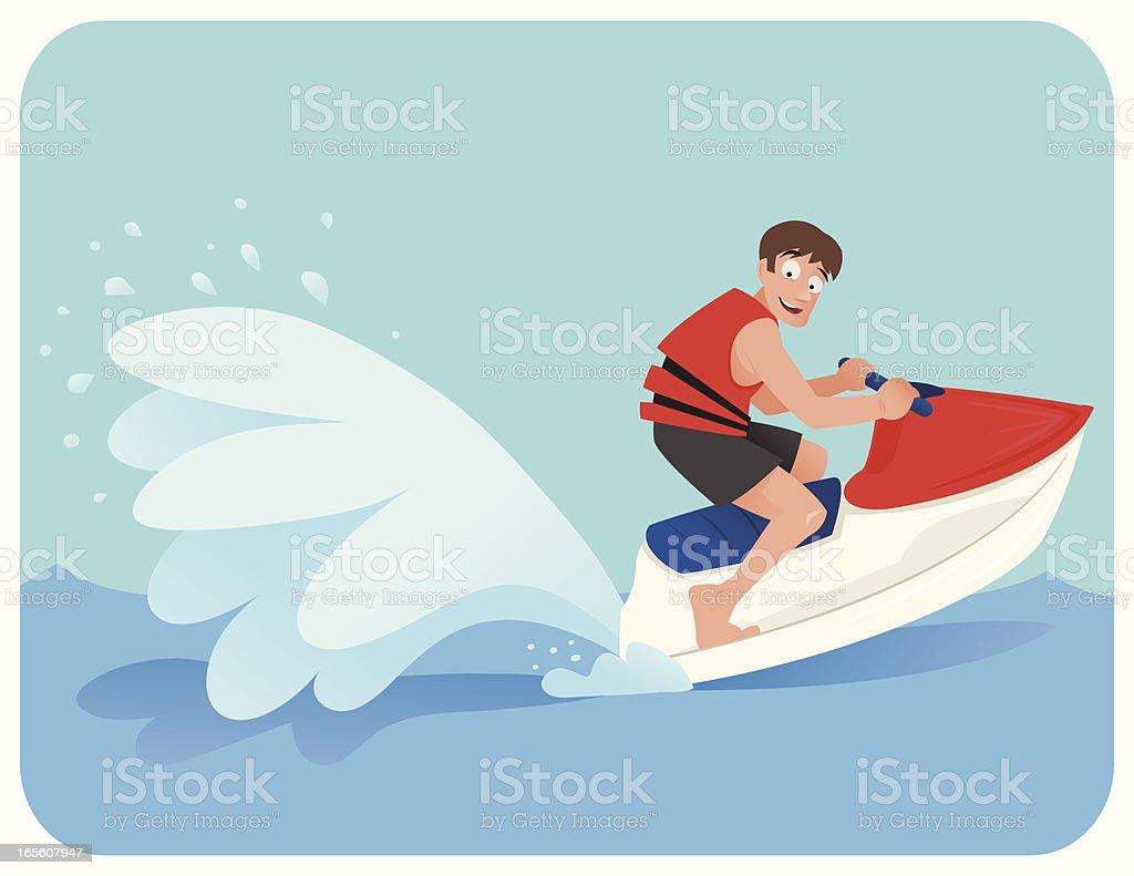 Jet Ski royalty-free stock vector art