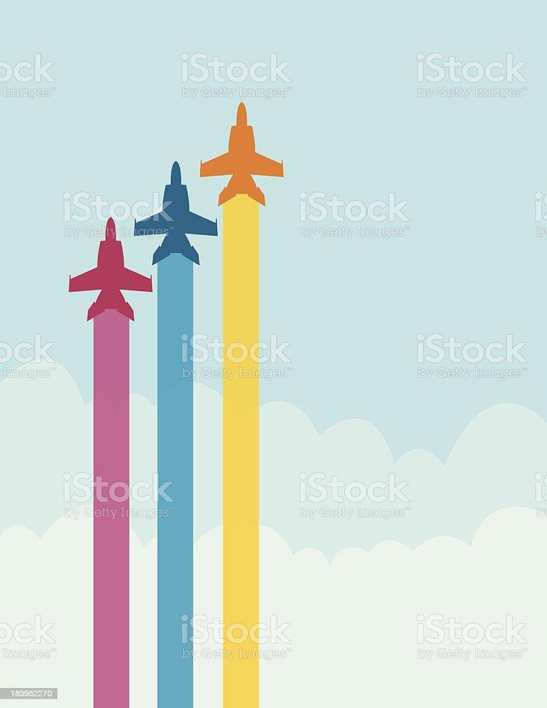 Jet Streams vector art illustration
