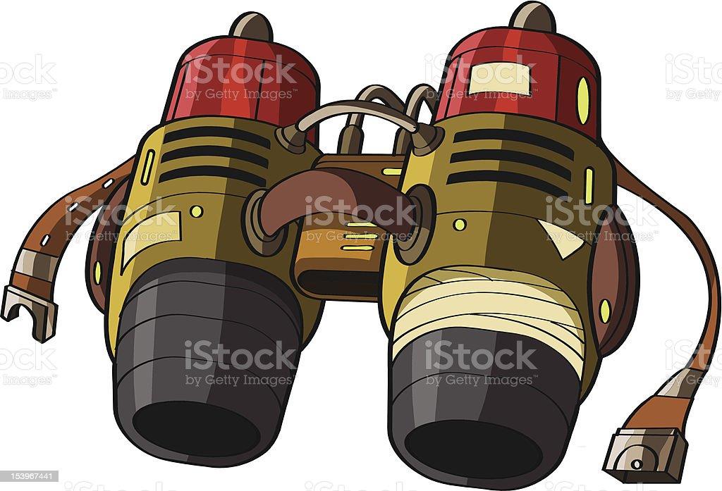 Jetpack or rocket belt vector art illustration
