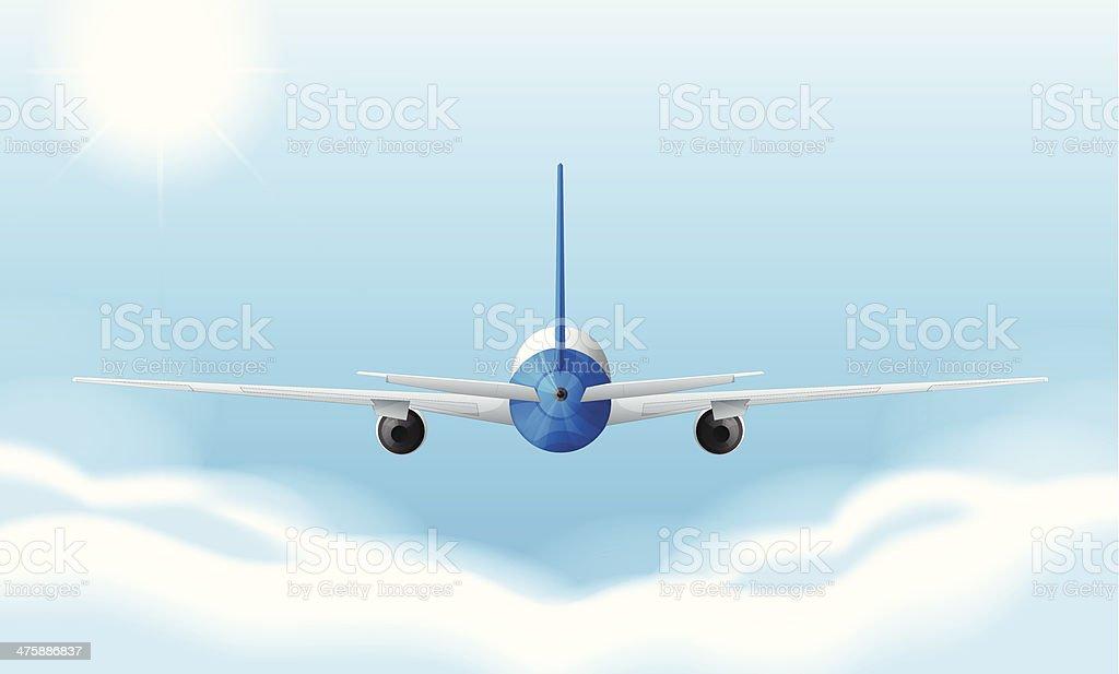 jetplane vector art illustration