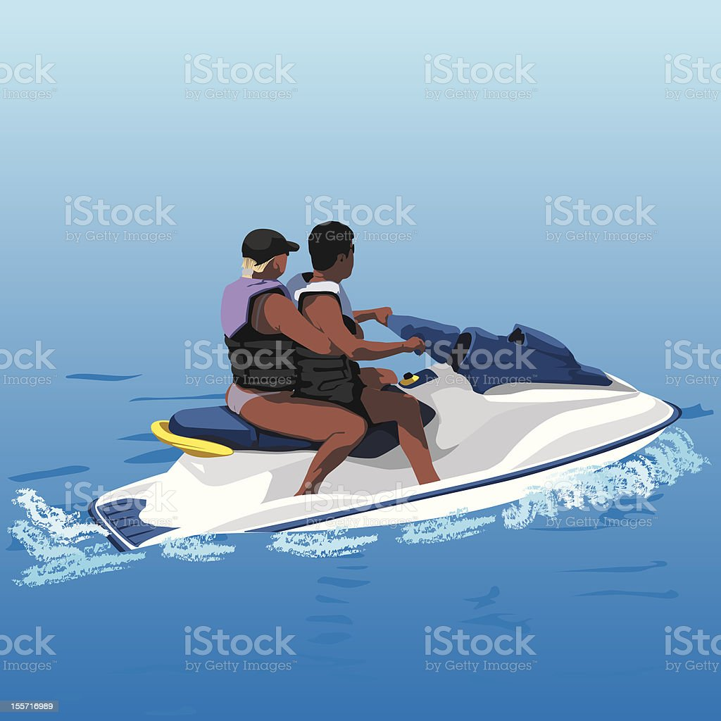 Jetski vector art illustration