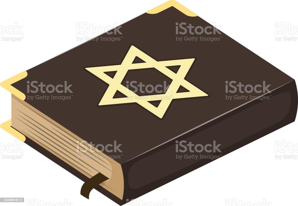 Jew bible book vector illustration. vector art illustration