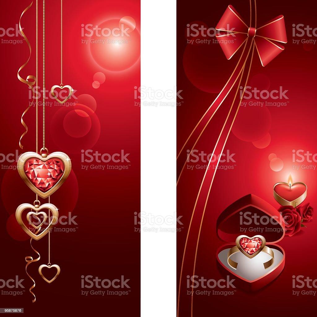 Jewel heart royalty-free stock vector art