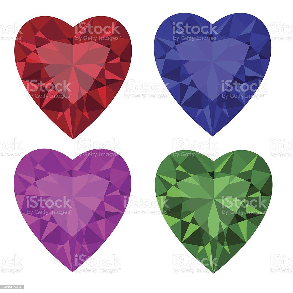 Jewel set royalty-free stock vector art