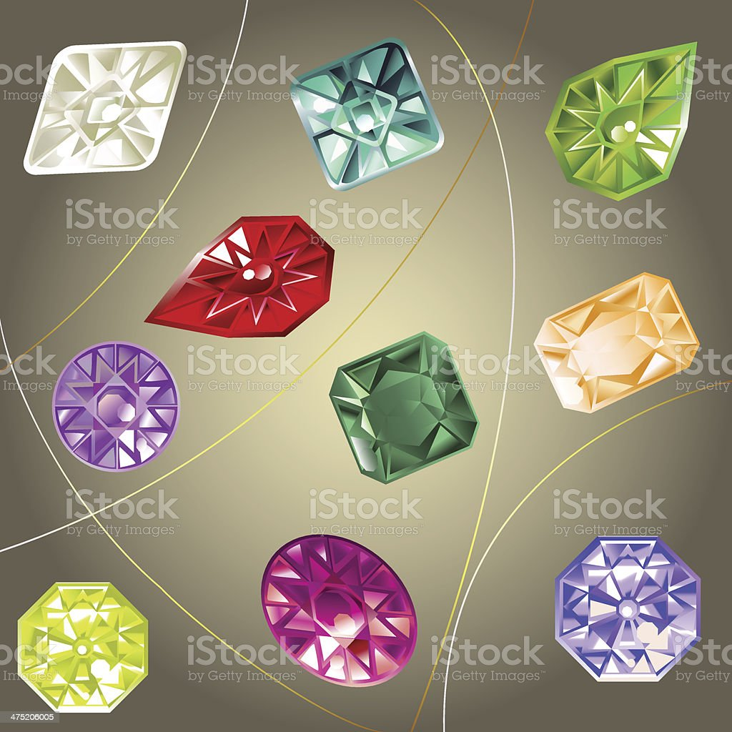 Jewel set royalty-free stock vector art