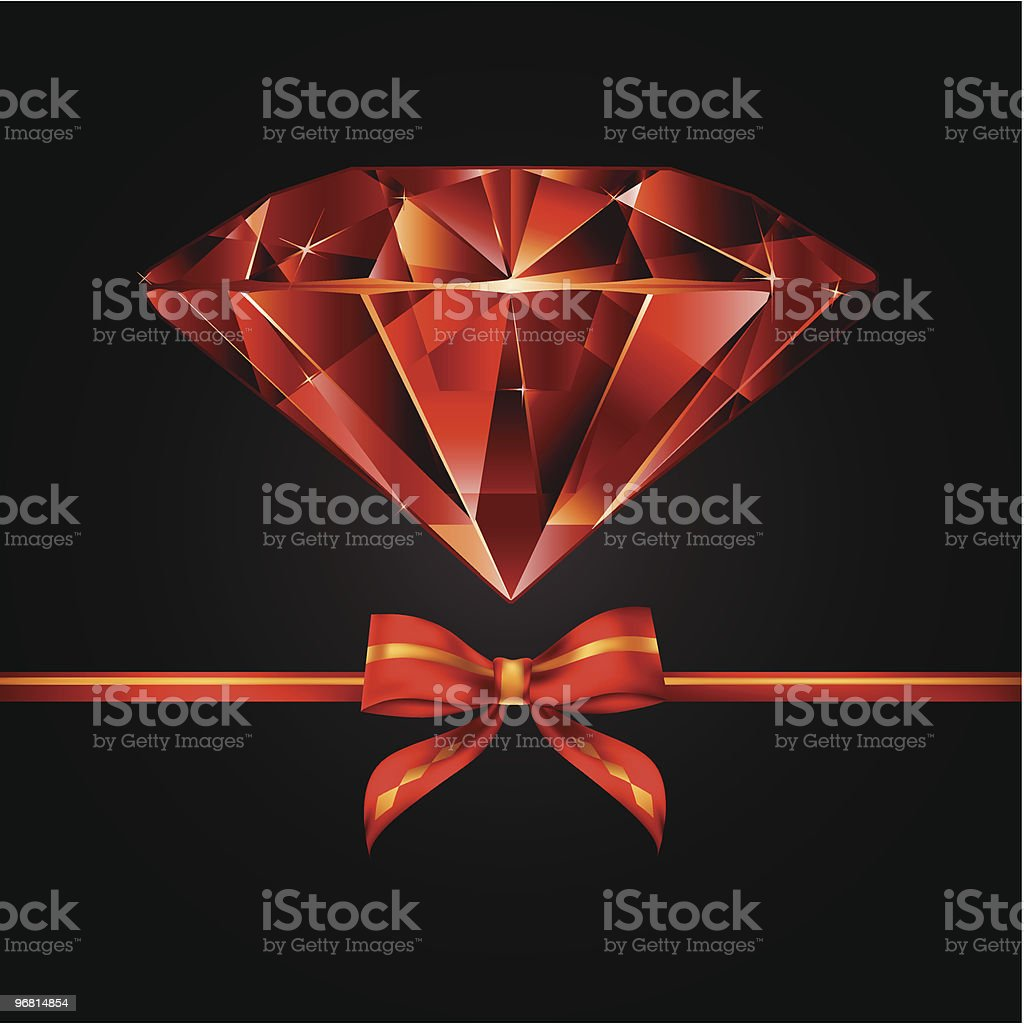 jewel with bow royalty-free stock vector art