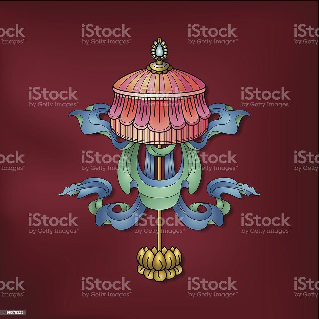 Jeweled parasol / Chhatraratna – (Auspicious Buddhist symbol) royalty-free stock vector art