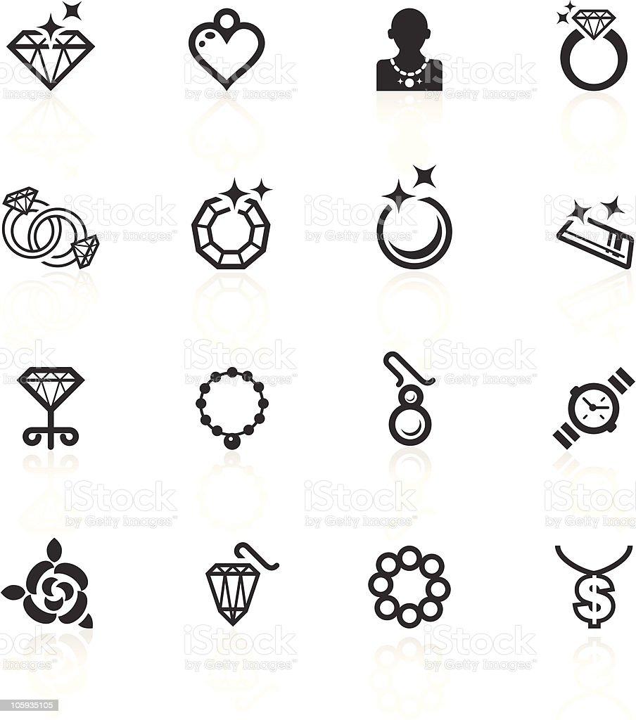 Jewelery Icons - minimo series vector art illustration