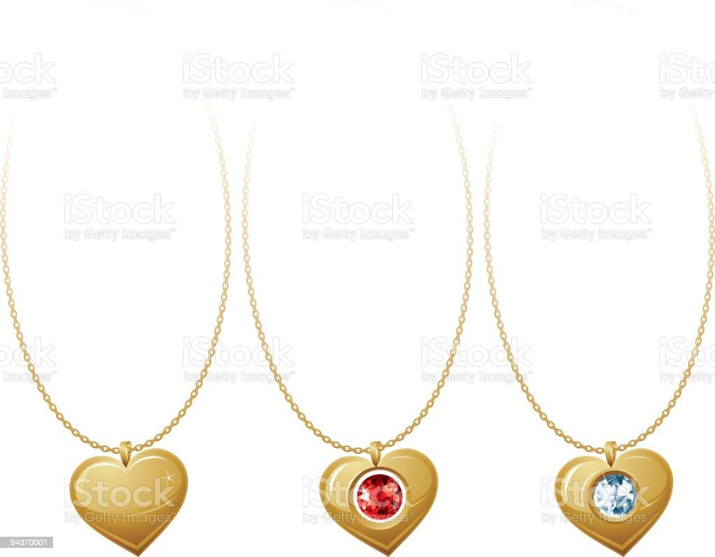 Jewellery heart royalty-free stock vector art