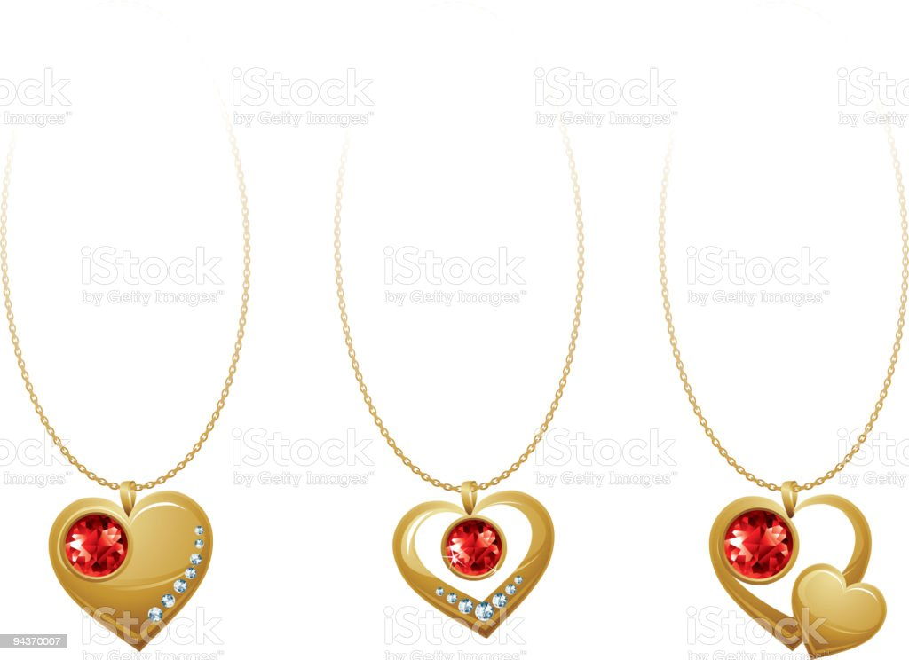 Jewellery heart royalty-free stock vector art