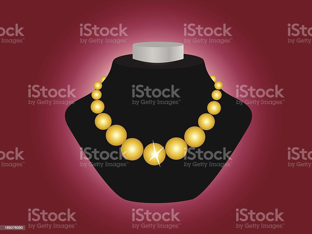 jewelry display stand vector art illustration