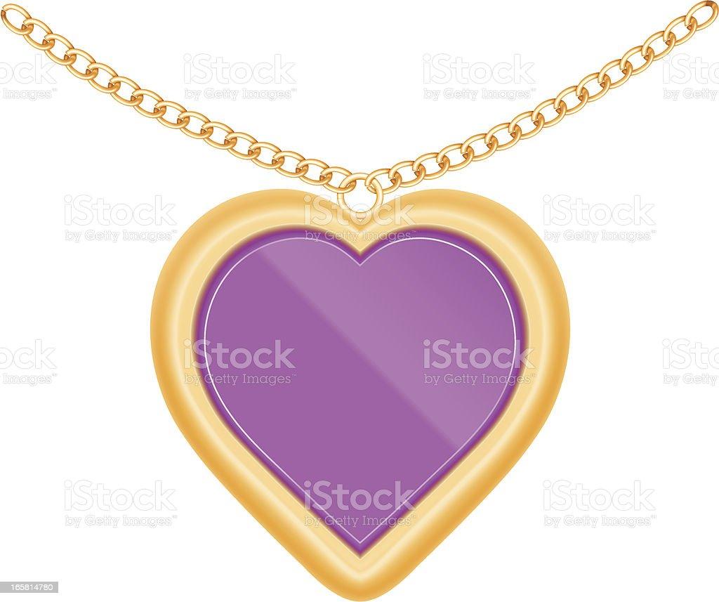 Jewelry heart vector art illustration