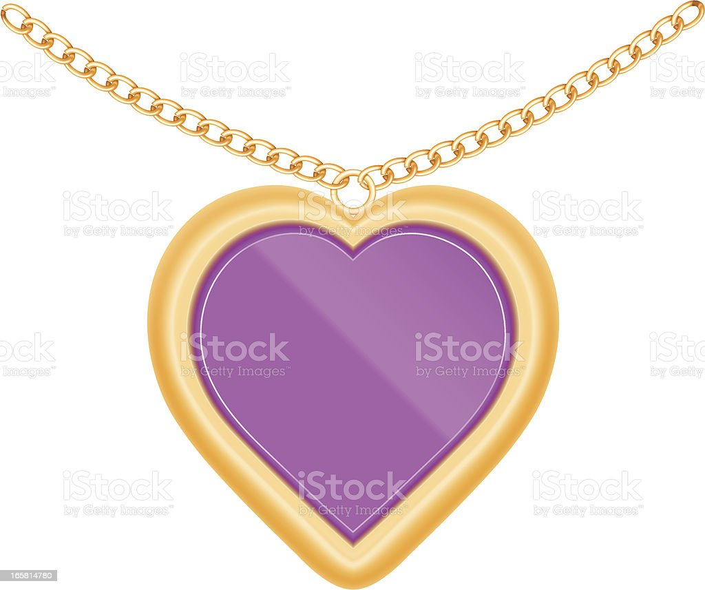 Jewelry heart vector art illustration