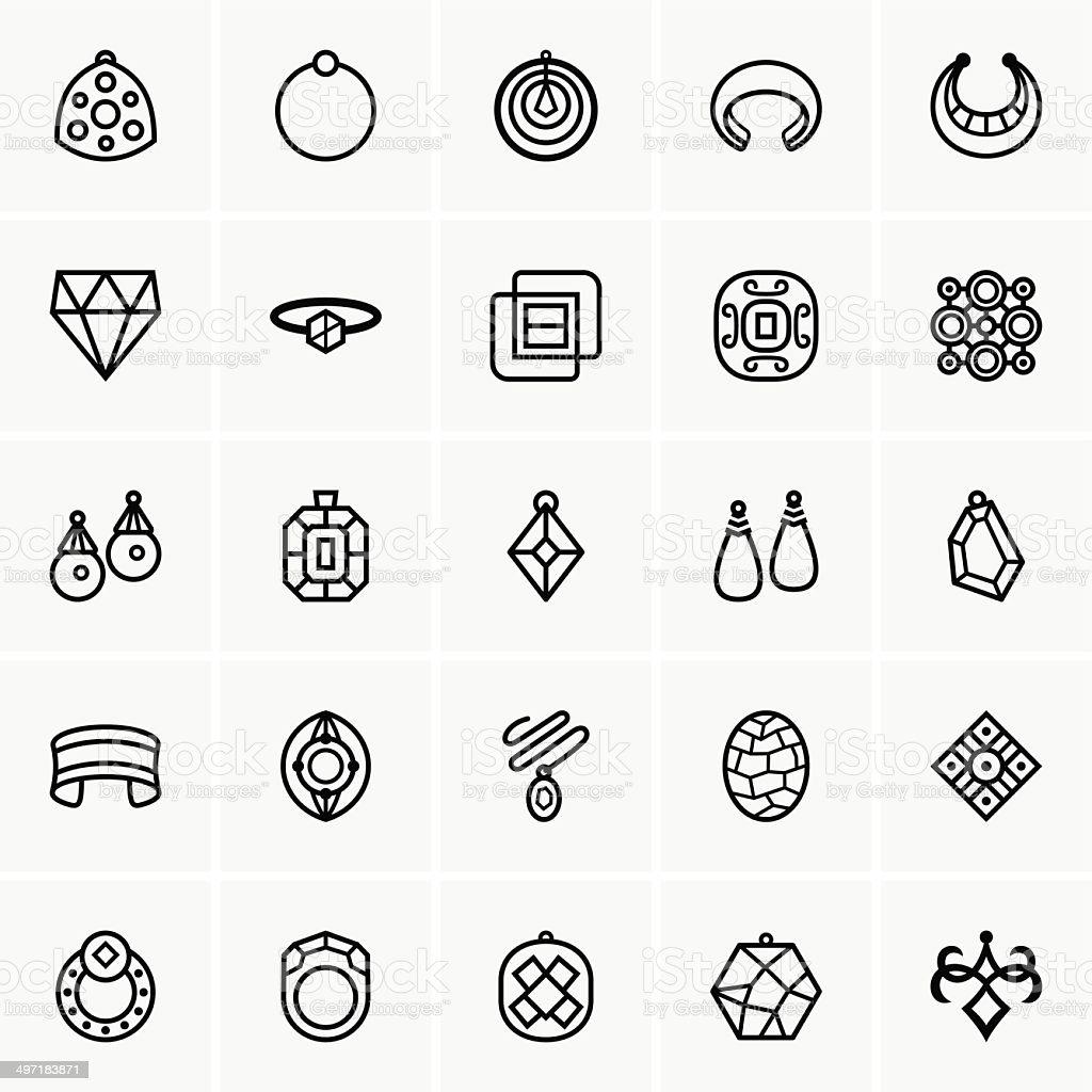 Jewelry icon vector art illustration