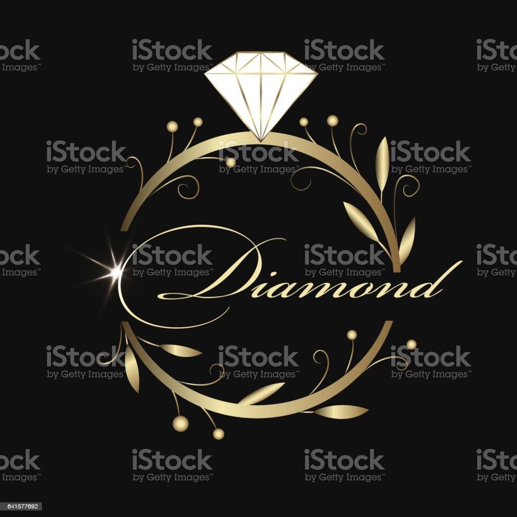 Jewelry Logo Design In Organic Style stock vector art 641577692