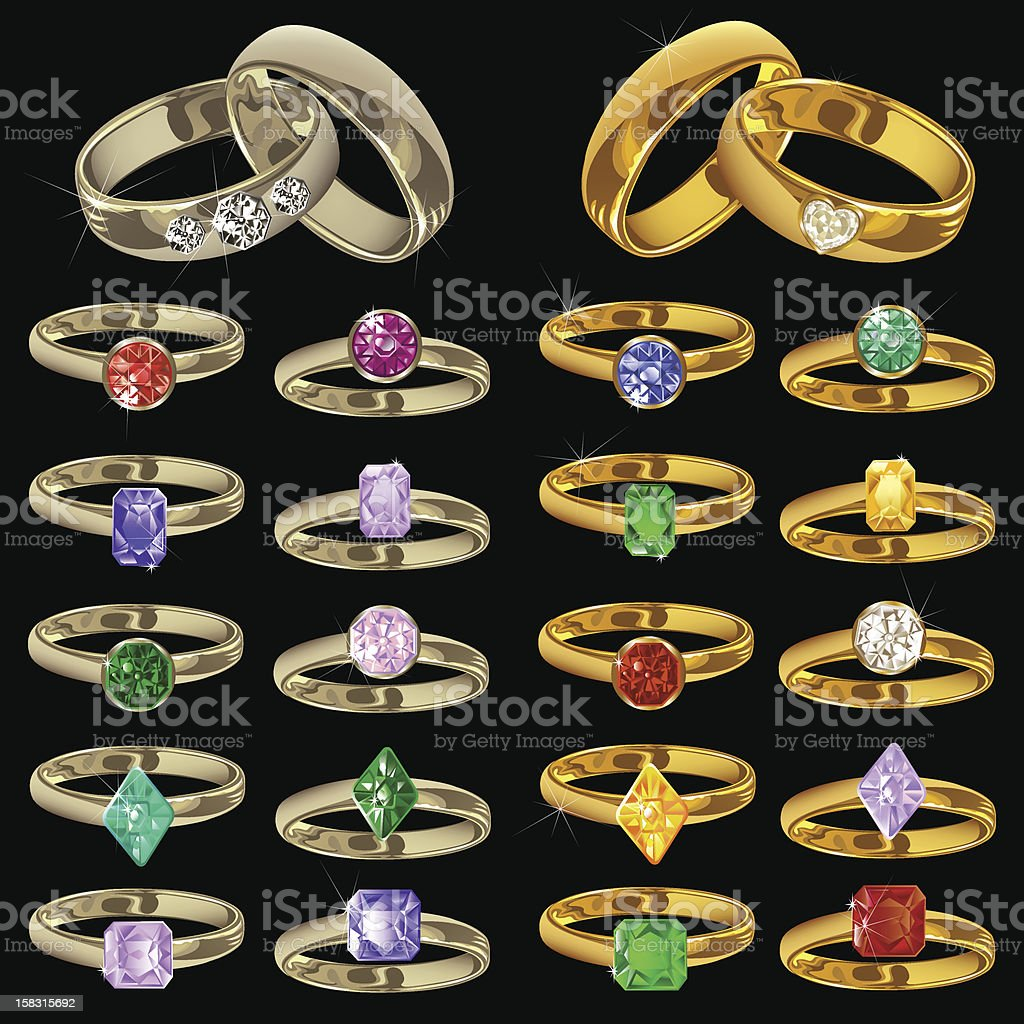 Jewelry rings royalty-free stock vector art