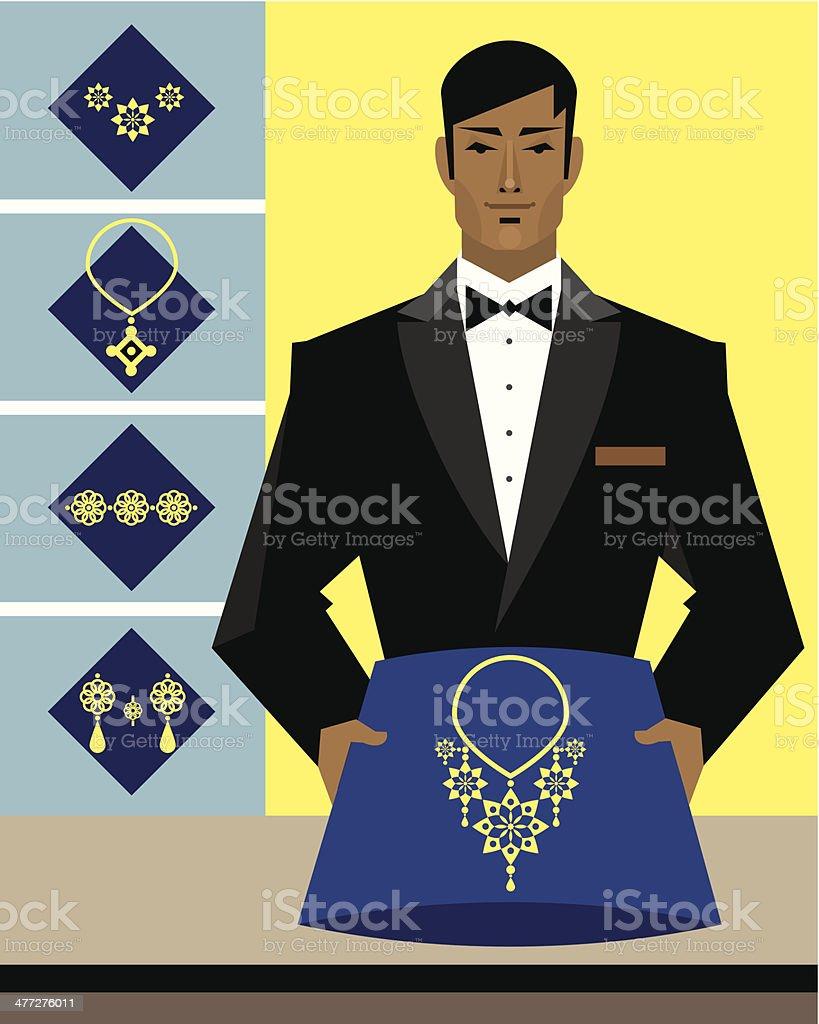Jewelry Salesman royalty-free stock vector art