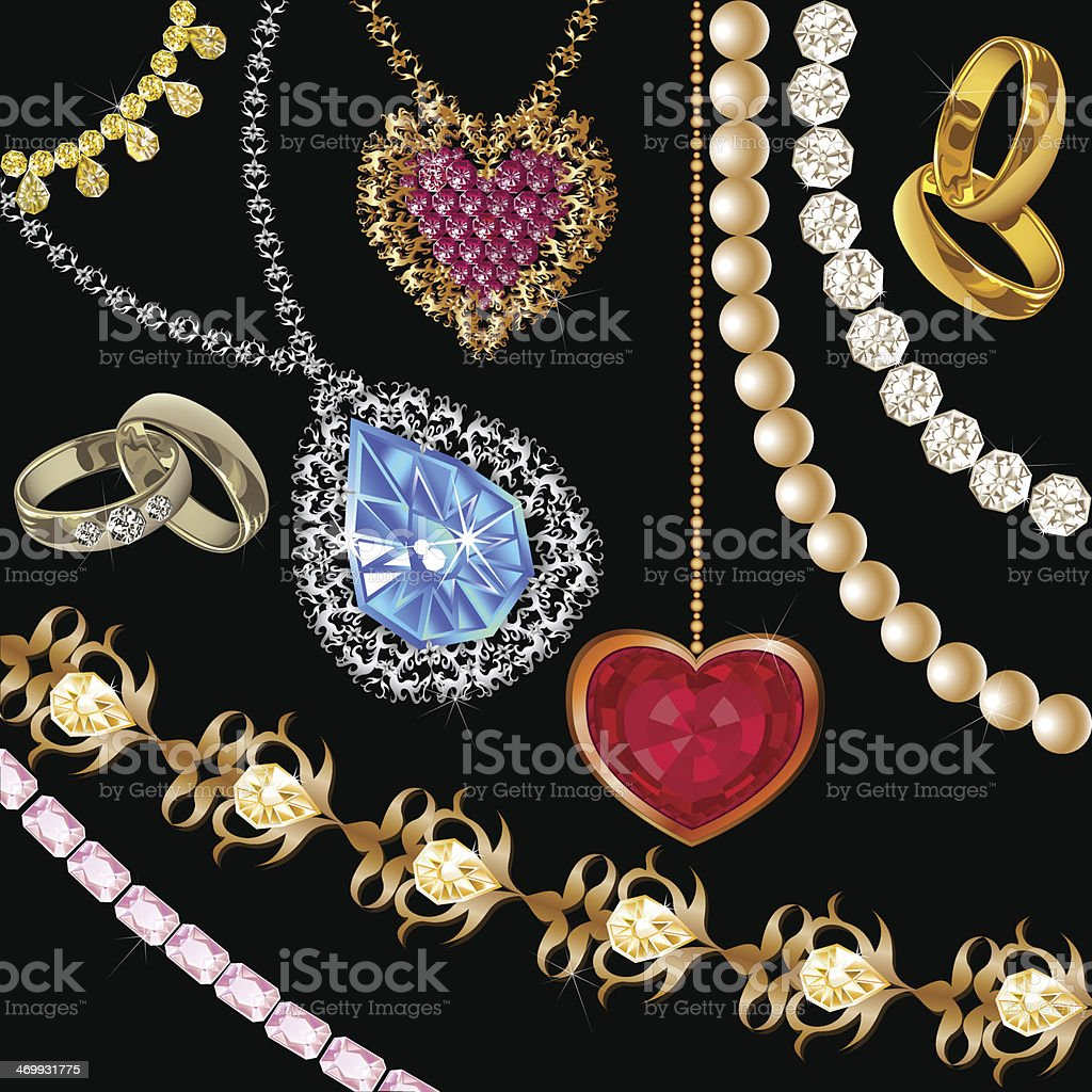 Jewelry set royalty-free stock vector art