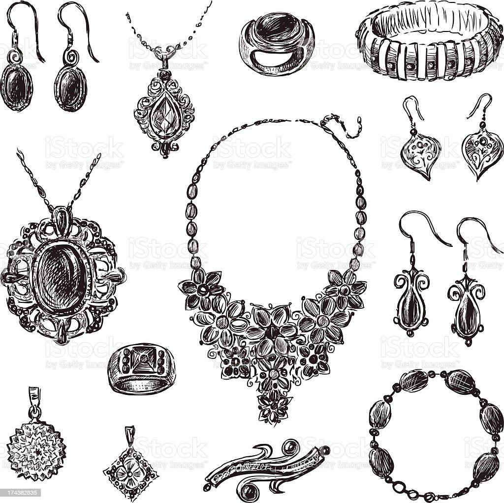 jewelry royalty-free stock vector art