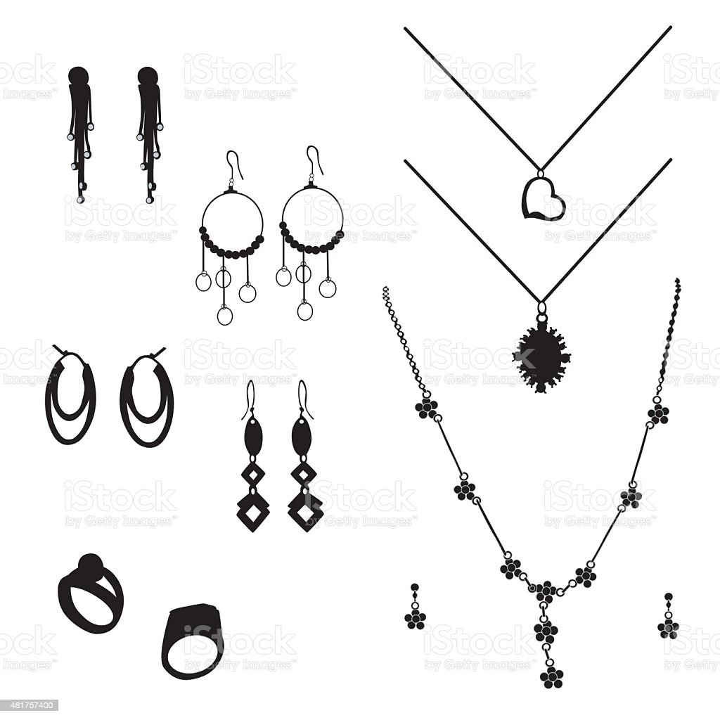 Jewelry vector art illustration