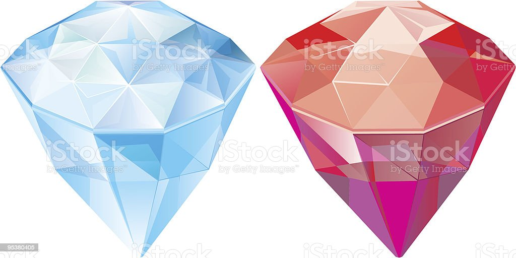 Jewels. sapphire. ruby royalty-free stock vector art