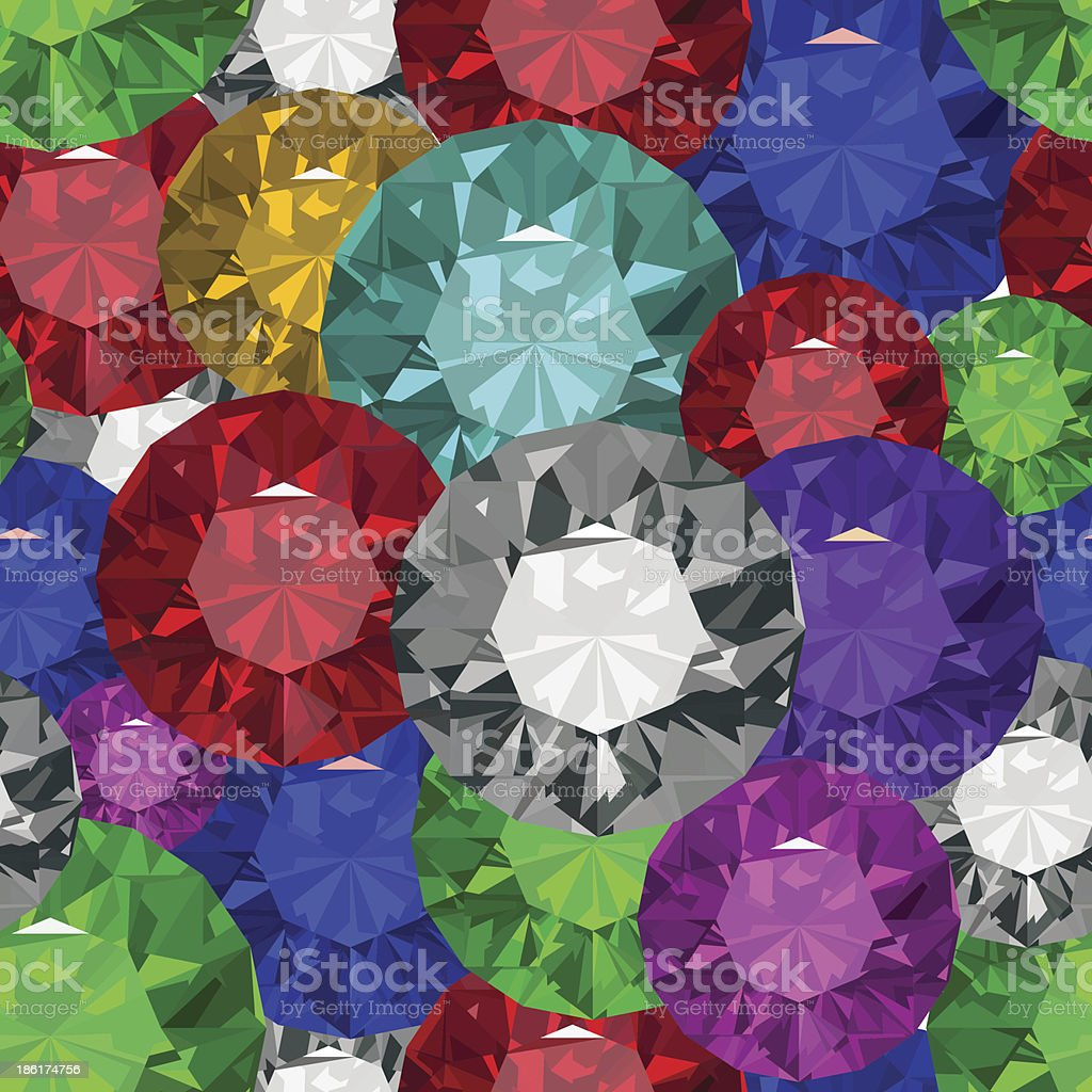 Jewels tecsture.Seamles royalty-free stock vector art