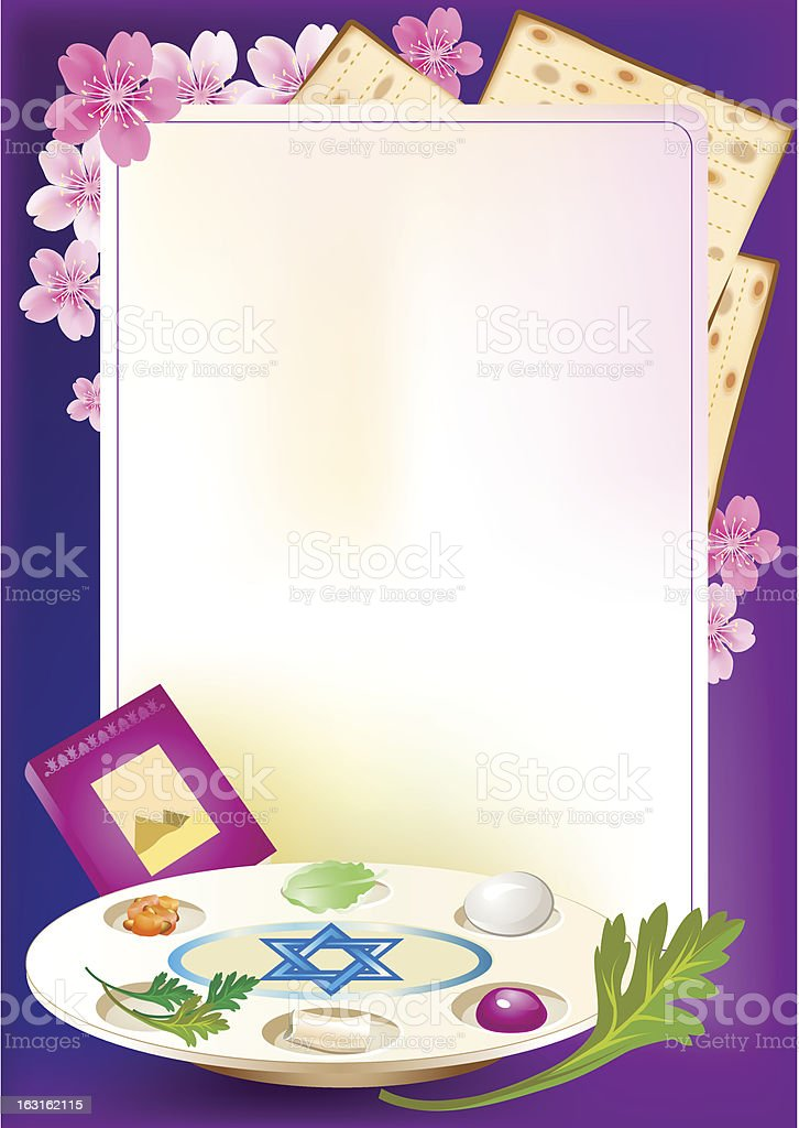 Jewish celebrate pesach passover with eggs royalty-free stock vector art