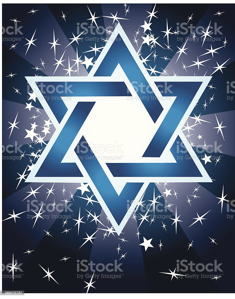 Jewish Faith - Star of David royalty-free stock vector art