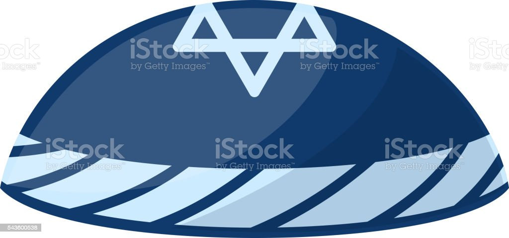 Jewish hat vector illustration. vector art illustration