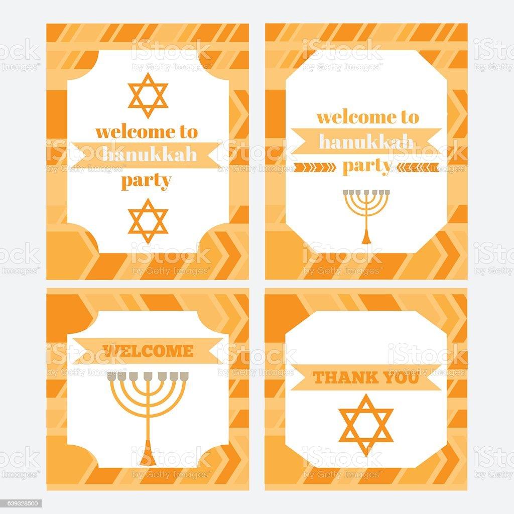 Printable set of Jewish holiday Hanukkahparty elements. Templates,...