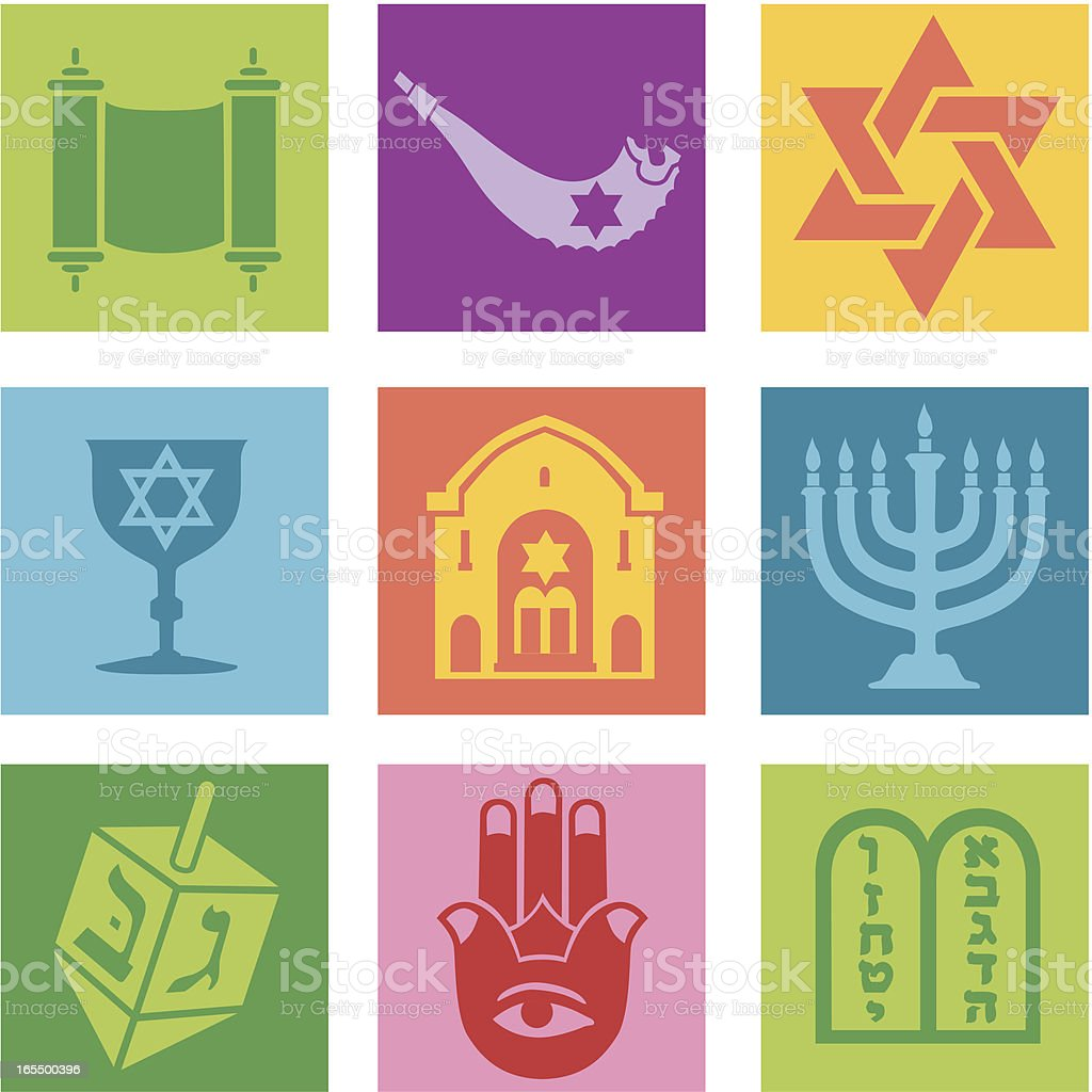 Jewish icons royalty-free stock vector art
