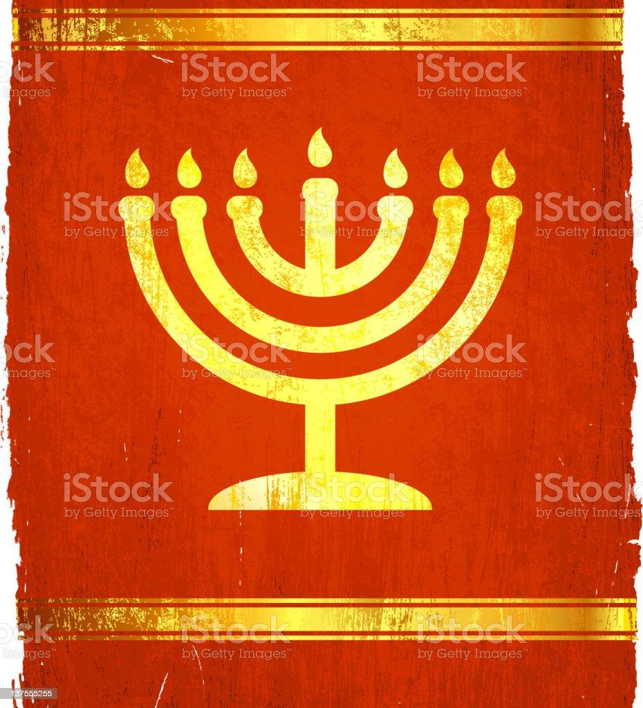 Jewish menorah on royalty free vector Background royalty-free stock photo