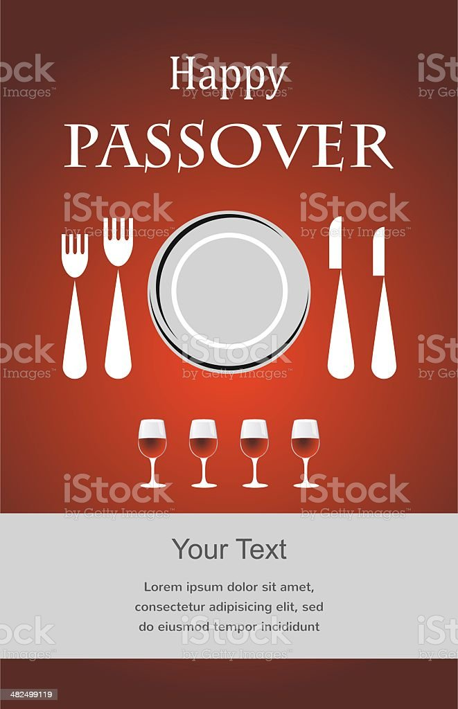 Jewish Passover holiday Seder invitation royalty-free stock vector art