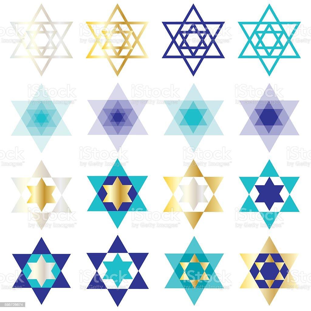 jewish star of David clipart vector art illustration